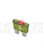 Littelfuse Auto Blade Fuses with Blown Fuse Indicator, ATO/ATC Size 15A 32VDC