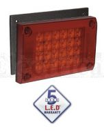 Narva 94810 9-33 Volt L.E.D Rear Stop/Tail Lamp (Red), 0.5m Cable, Surface Mount Gasket and Security Caps