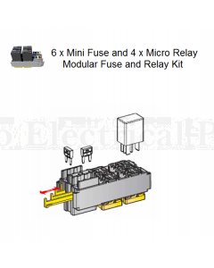 6 x Mini Fuse and 4 x Micro Relay Modular Fuse and Relay Kit