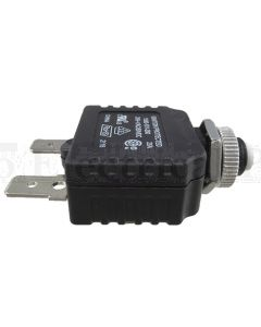 """Mechanical Products 1580-101-250 Series 15 Circuit Breakers MAN 25A 250VAC/50VDC 3/8""""-27 THREAD (1580-101)"""