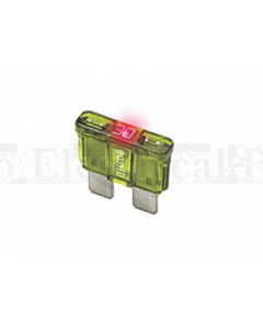 Littelfuse Auto Blade Fuses with Blown Fuse Indicator, ATO/ATC Size 10A 32VDC