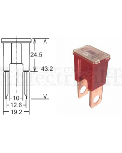 Pal Fuses Straight Male Terminal Large BTF050 50A 32VDC Link