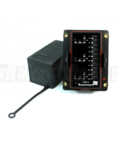 Bussmann 15303-3-6-4 RTMR 15300 Series Rear Terminal Mini Fuse and Relay Box (Dual Bussed, 3 Relays)