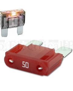 Littlefuse MAXI 32V Slo-Blo 50A Maxi Blade Fuse with Blown Fuse Indicator
