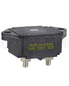 Mechanical Products 19A-P10-N-080 Series 19 Circuit Breaker 80A 30VDC