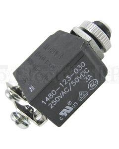 Bussmann 4A Circuit Breaker Panel Mount Series 14 Thread Screw
