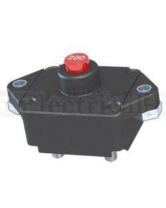Mechanical Products 19M-P11-B-200 Series 19 Circuit Breaker 200A 30VDC