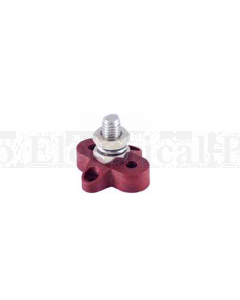 Prolec JBSM10R Single Stud Stand Alone Junction Block - 34mm Red