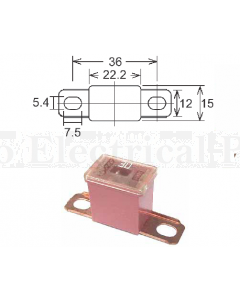 Pal Fuses Male Bent Terminal Small SBF080 Link 80A 32VDC